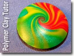 Polymer Clay Lentil Bead