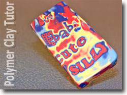 Polymer Clay Graffiti Art Bead