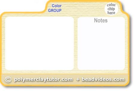 Blank Polymer Clay Tutor Recipe Card