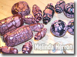 Faux Raku Beads by Melinda Herron