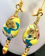 Claycass Torn Clay Watercolor Earrings