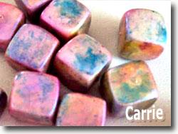 Faux Raku Beads by Carrie