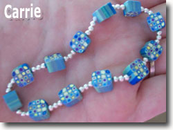 Mod Cane Bead Bracelet by Carrie