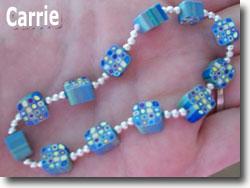 Mod Cane Bead Bracelet by Carrie