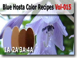 Blue Hosta Polymer Clay Color Palette