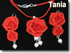 Polymer Clay Roses by Tania
