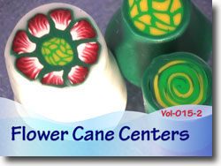 Polymer Clay Flower Cane Centers