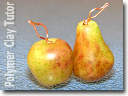 Apple Pear Bead Copper Findings
