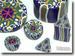 Kaleidoscope Polymer Clay by Polyanya