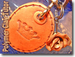 Faux Leather Key Chain Pendant and Rose