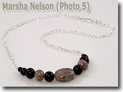 Rose Petal Beads by Marsha Nelson