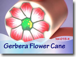 Polymer Clay Gerbera Flower Cane