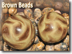 Brown Polymer Clay Beads by Rob Kerfoot