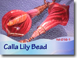 Polymer Clay Lily Bead