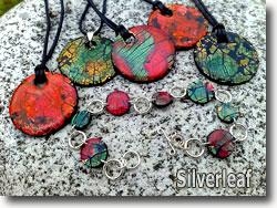 Crackled Metal Leaf Polymer Clay by Silverleaf
