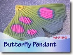 Polymer Clay Butterfly Wing Pendant