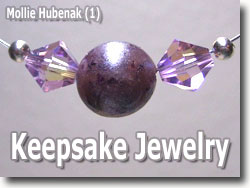 Polymer Clay Keepsake Beads by Mollie Hubenack