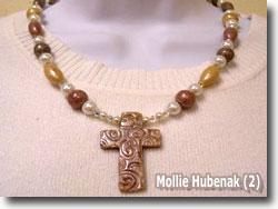 Polymer Clay Keepsake Cross Necklace by Mollie Hubenack