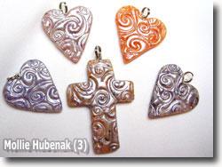 Polymer Clay Keepsake Pendants by Mollie Hubenack