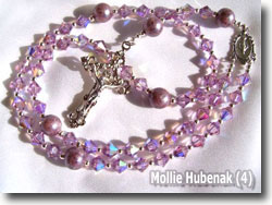 Polymer Clay Rosary Beads by Mollie Hubenack