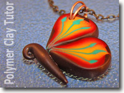 Polymer Clay Cane Butterfly
