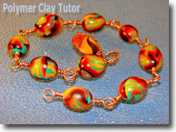 Polymer Clay Rosary Beads