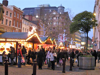Manchester Cabins at Christmas