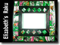 Polymer Clay Mirror Frame by Elizabeth Schydlower