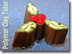 Holly Berry and Leaf Canes