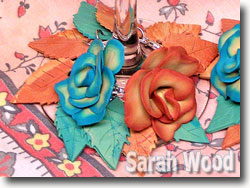 Polymer Clay Faux Leather Rose Wine Charms by Sarah Wood