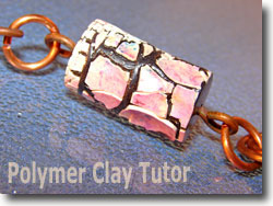 Wired Polymer Clay Tube Bead