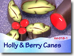 Holly and Berry Canes