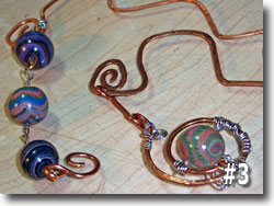 Polymer Clay Jupiter Bead and Copper Bookmarks by Sarah Wood