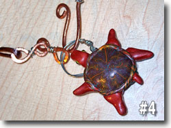 Polymer Clay Turtle Shaped Pendant by Sarah Wood