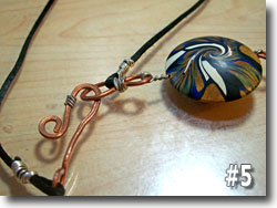 Polymer Clay Lentil Bead Necklace by Sarah Wood