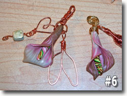Polymer Clay Calla Lily Pendants by Sarah Wood
