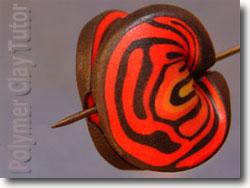 Rose Brain Mobius Bead