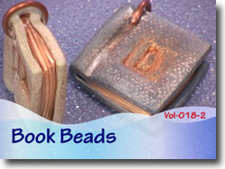 Polymer Clay Book Beads