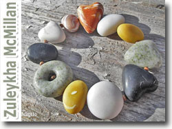 Polymer Clay Faux Pebbles by Suleykha McMillan