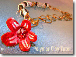 Asymmetrical Polymer Clay Necklace