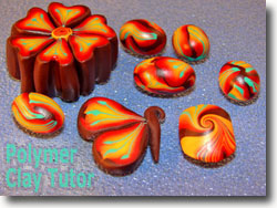 Polymer Clay Beads from Dogwood Cane