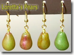 Pear Earrings by Loretta Carstensen