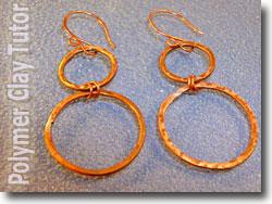 Symmetrical Copper Wire Hoop Earrings