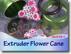 Polymer Clay Extruder Flower Cane