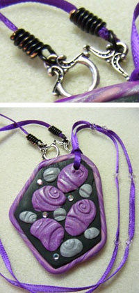 Cord Ends and Necklace by Linda Kropp
