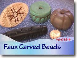Polymer Clay Faux Carved Beads
