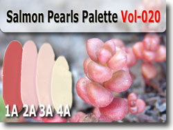 Salmon Pearls Polymer Clay Color Palette