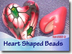 Polymer Clay Heart Shaped Beads Tutorial
