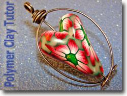 Gerbera Heart Bead Interchangeable Pendant
