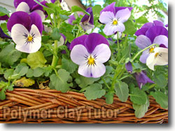 Pansy Flower Basket
